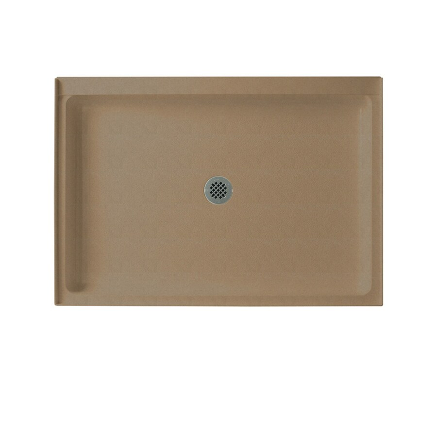 Swanstone Barley Solid Surface Shower Base (Common: 34-in W x 48-in L; Actual: 34-in W x 48-in L)