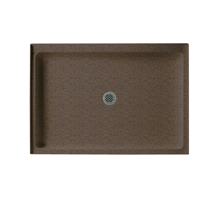Swanstone Sierra Solid Surface Shower Base (Common: 34-in W x 48-in L; Actual: 34-in W x 48-in L)