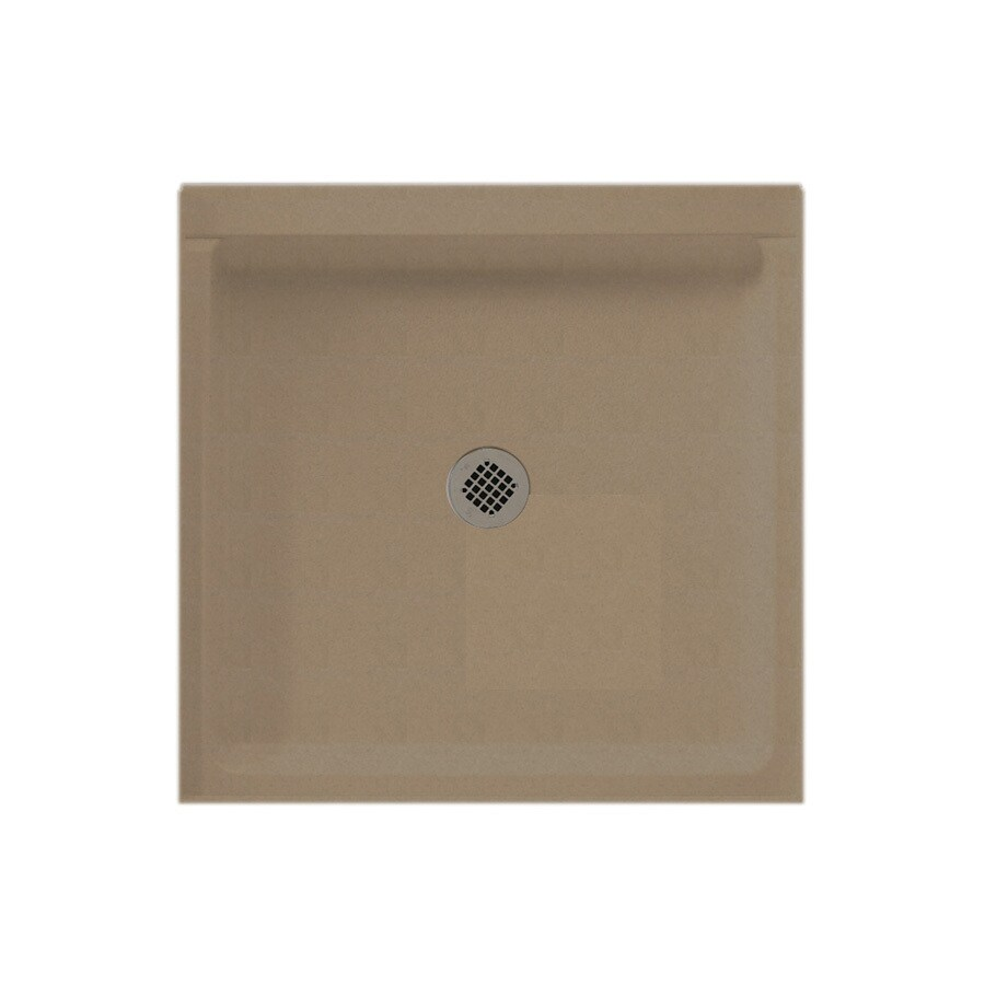 Swanstone Barley Solid Surface Shower Base (Common: 36-in W x 36-in L; Actual: 36-in W x 36-in L)