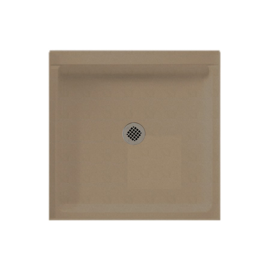 Swanstone Barley Solid Surface Shower Base (Common: 42-in W x 36-in L; Actual: 36-in W x 42-in L)