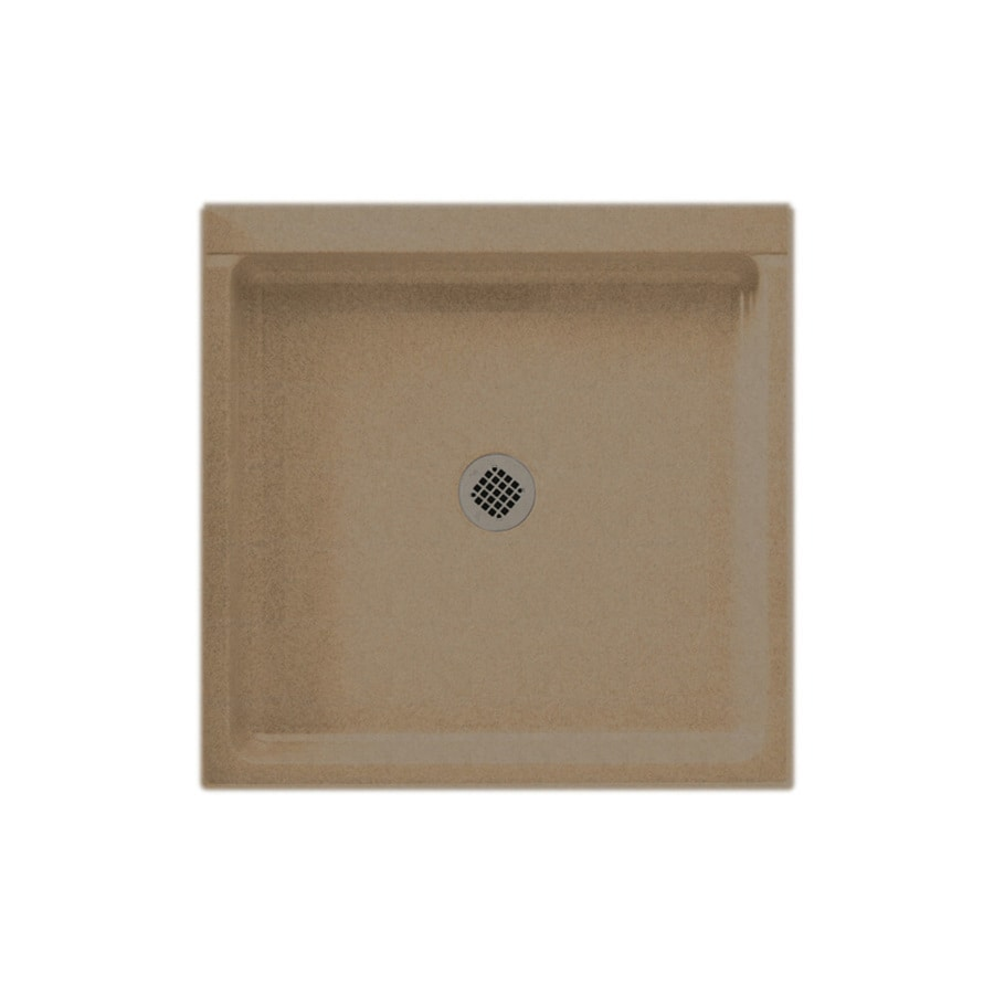 Swanstone Barley Solid Surface Shower Base (Common: 42-in W x 42-in L; Actual: 42-in W x 42-in L)
