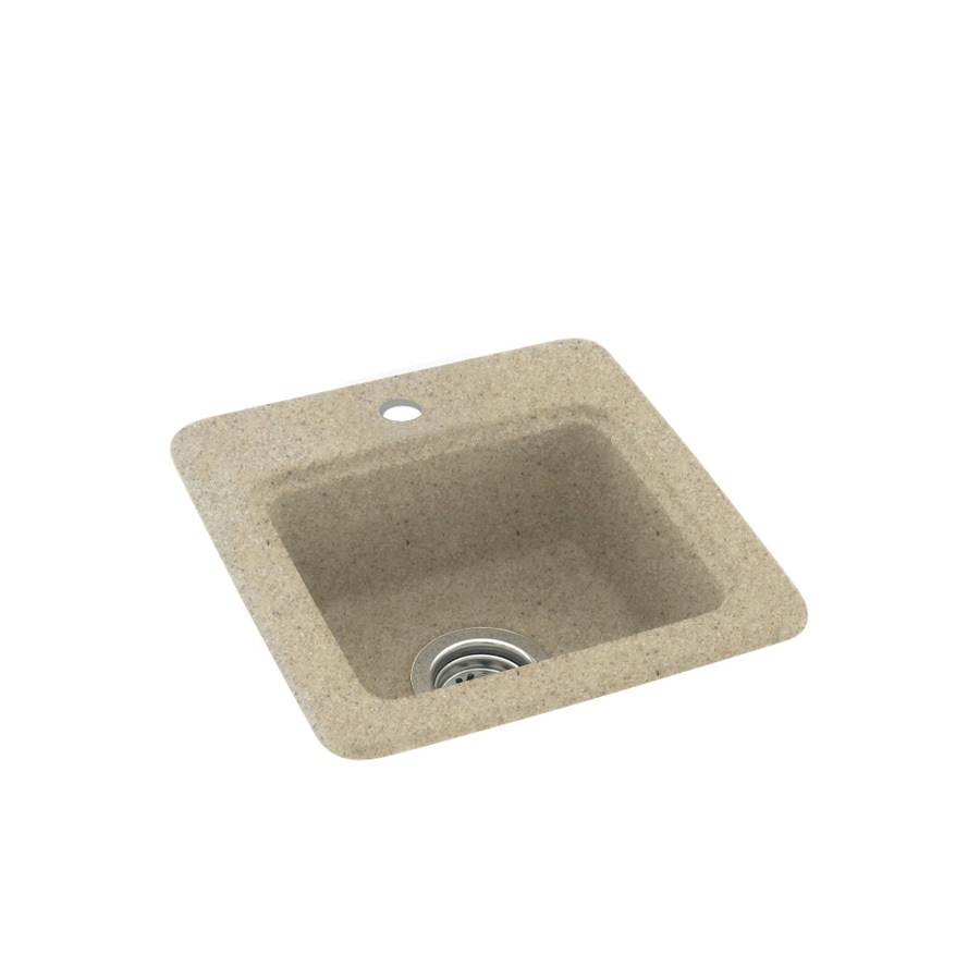 Swanstone Prairie Single-Basin 1-Hole Composite Drop-in Residential Bar Sink