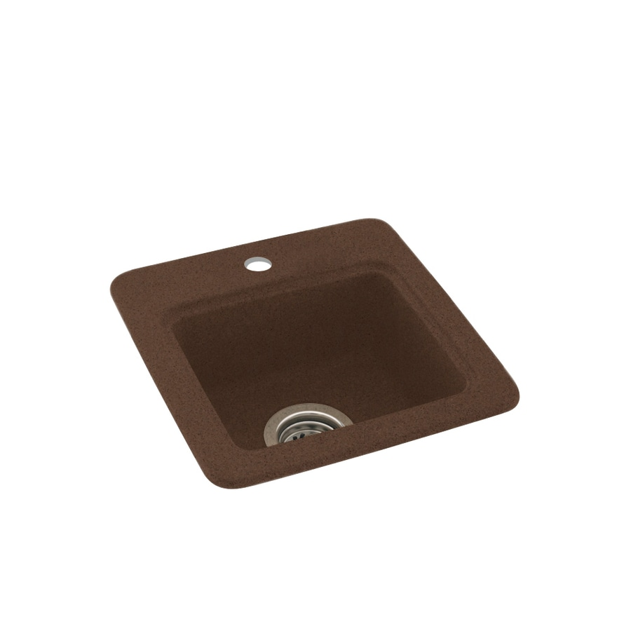 Swanstone Acorn Single-Basin 1-Hole Composite Drop-in Residential Bar Sink
