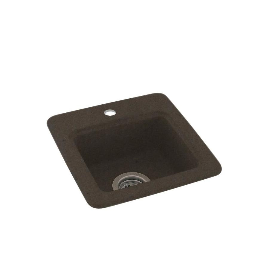 Swanstone Canyon Single-Basin 1-Hole Composite Drop-in Residential Bar Sink