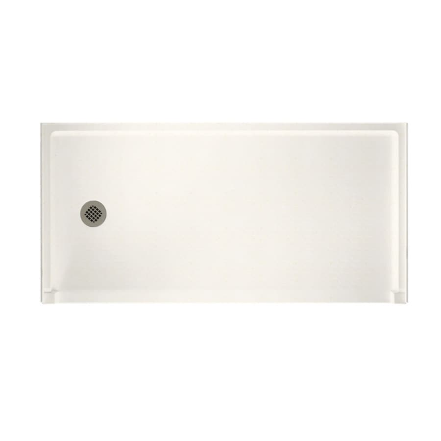 Swanstone Baby's Breath Solid Surface Shower Base (Common: 30-in W x 60-in L; Actual: 30-in W x 60-in L)