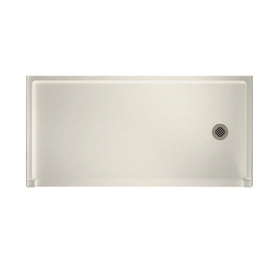 Swanstone Glacier Solid Surface Shower Base (Common: 30-in W x 60-in L; Actual: 30-in W x 60-in L)