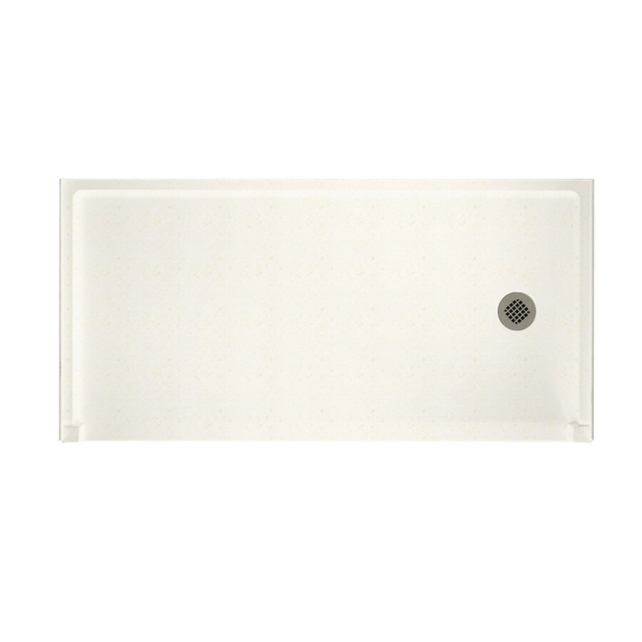 Shop swanstone baby 39 s breath solid surface shower base common 30 in w x 60 in l actual 30 in - 30 x 60 shower pan ...