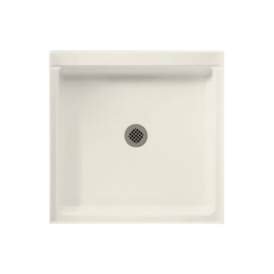 Swanstone Glacier Solid Surface Shower Base (Common: 32-in W x 32-in L; Actual: 32-in W x 32-in L)
