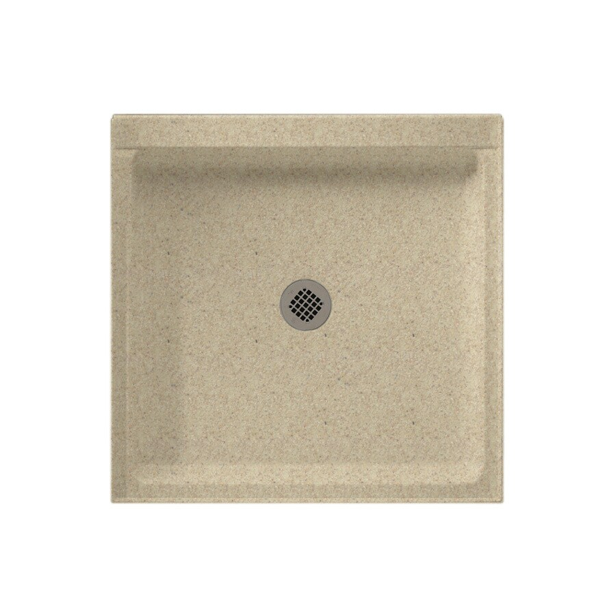 Swanstone Prairie Solid Surface Shower Base (Common: 32-in W x 32-in L; Actual: 32-in W x 32-in L)