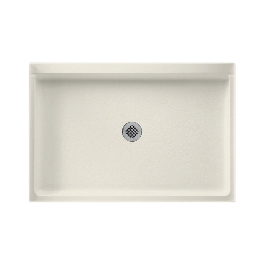Swanstone Glacier Solid Surface Shower Base (Common: 32-in W x 48-in L; Actual: 32-in W x 48-in L)