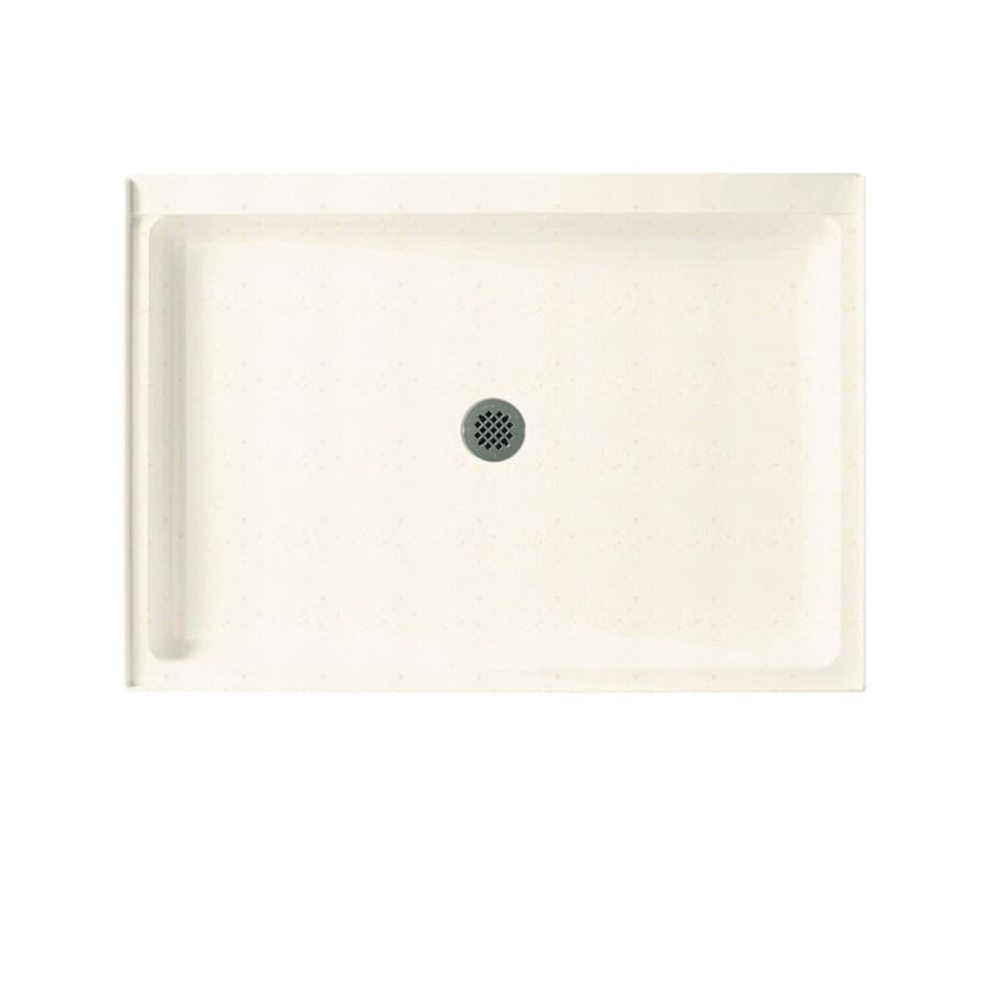 Swanstone Baby's Breath Solid Surface Shower Base (Common: 34-in W x 42-in L; Actual: 34-in W x 42-in L) with Center Drain