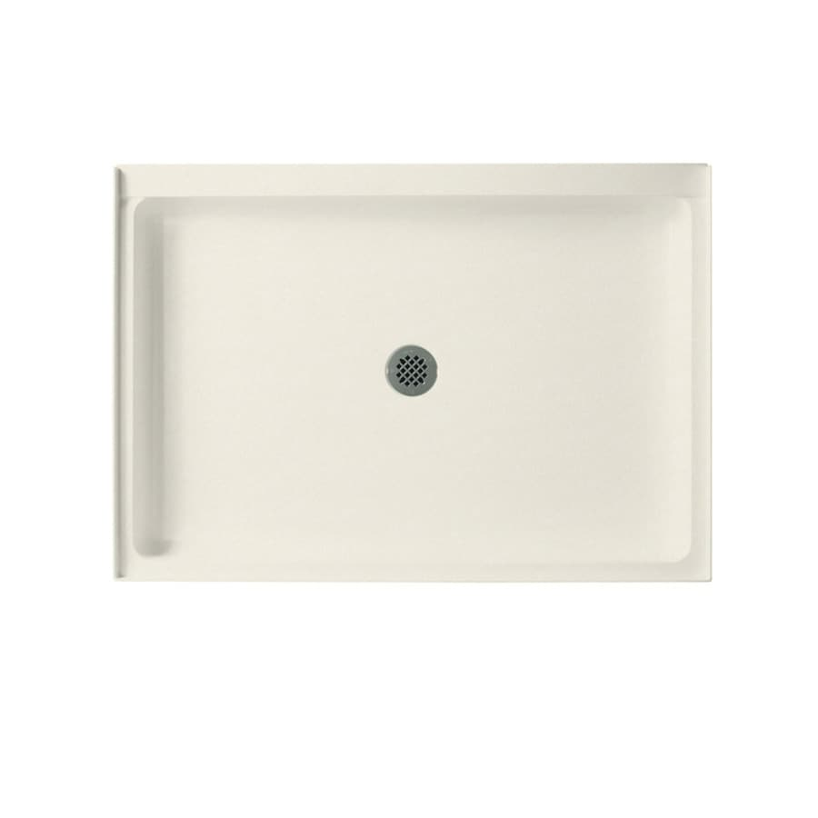 Swanstone Glacier Solid Surface Shower Base (Common: 34-in W x 48-in L; Actual: 34-in W x 48-in L) with Center Drain