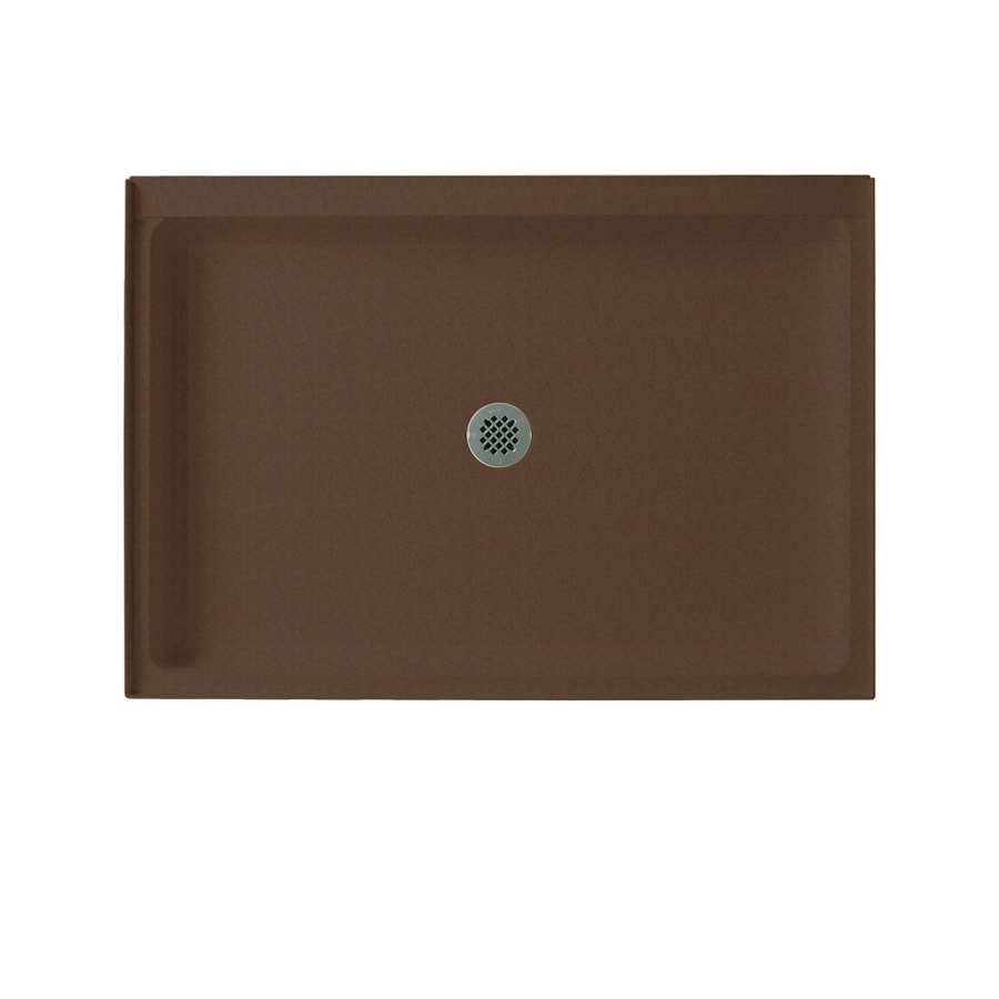 Swanstone Acorn Solid Surface Shower Base (Common: 34-in W x 48-in L; Actual: 34-in W x 48-in L)