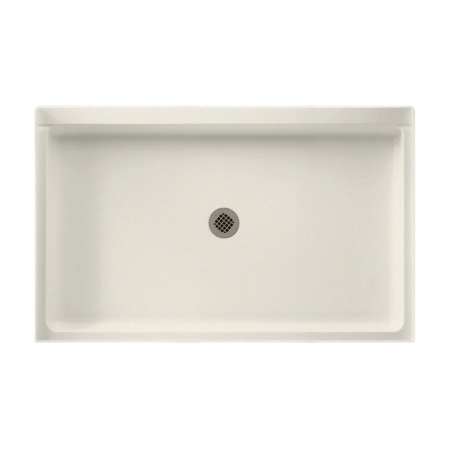 Swanstone Glacier Solid Surface Shower Base (Common: 34-in W x 54-in L; Actual: 34-in W x 54-in L)