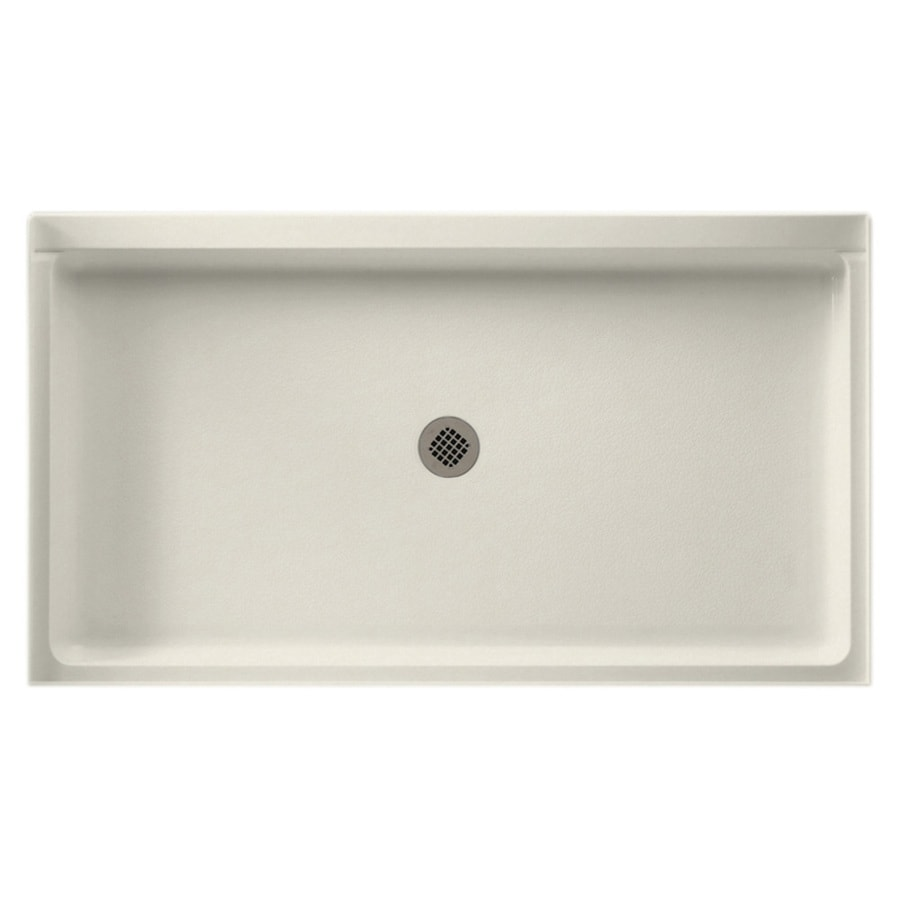 Swanstone Glacier Solid Surface Shower Base (Common: 34-in W x 60-in L; Actual: 34-in W x 60-in L)