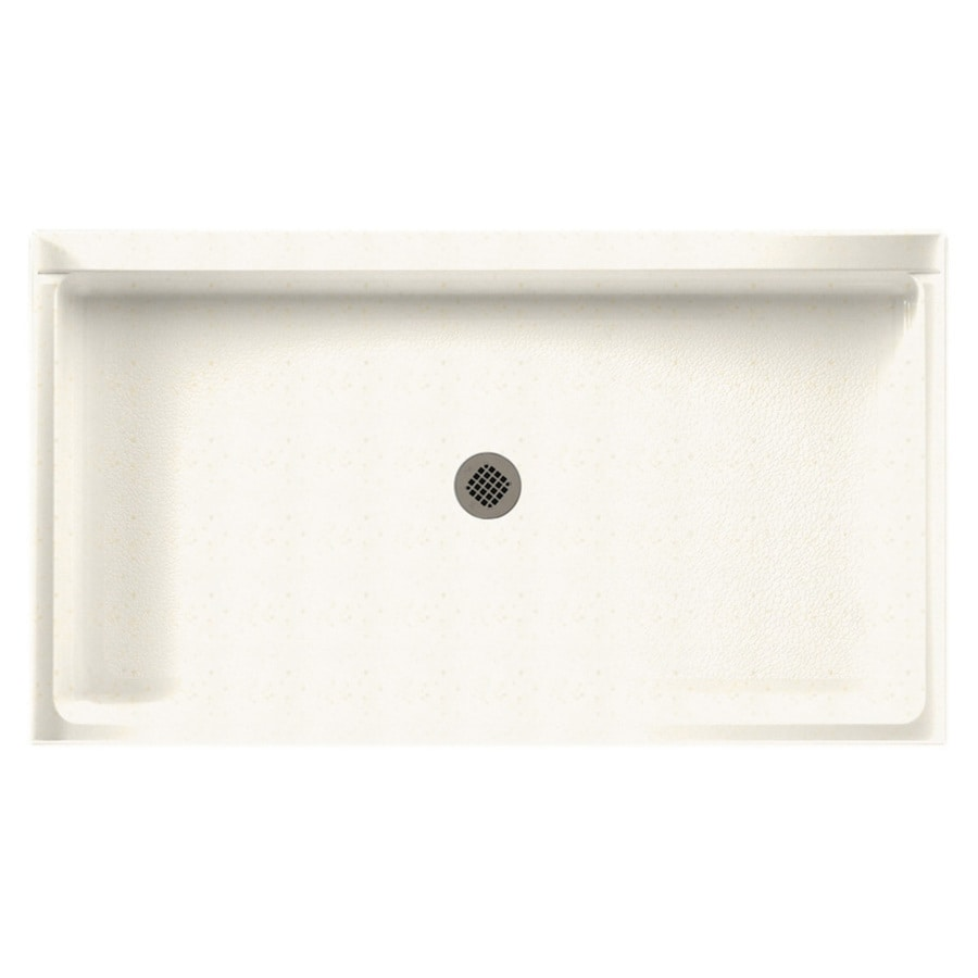 Swanstone Baby's Breath Solid Surface Shower Base (Common: 34-in W x 60-in L; Actual: 34-in W x 60-in L)
