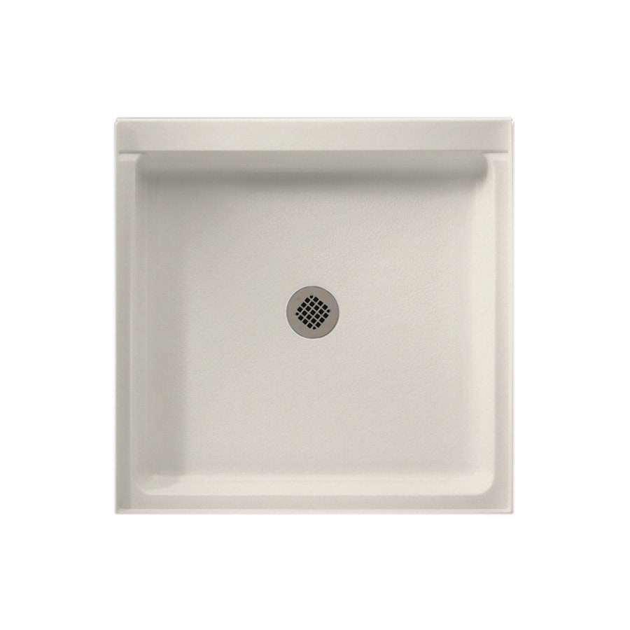 Swanstone Glacier Solid Surface Shower Base (Common: 36-in W x 36-in L; Actual: 36-in W x 36-in L)
