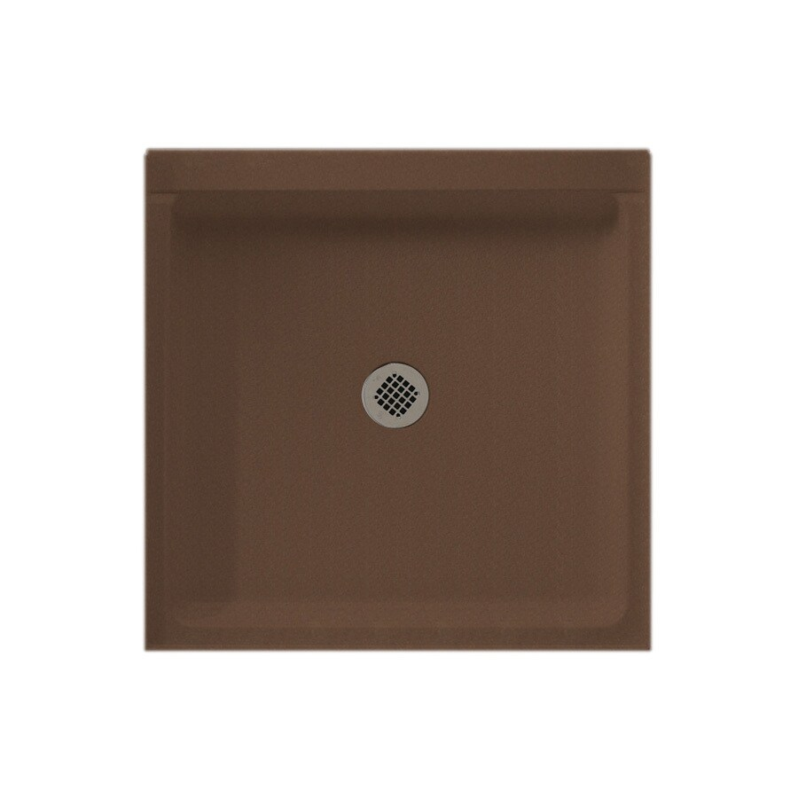 Swanstone Acorn Solid Surface Shower Base (Common: 42-in W x 36-in L; Actual: 36-in W x 42-in L)