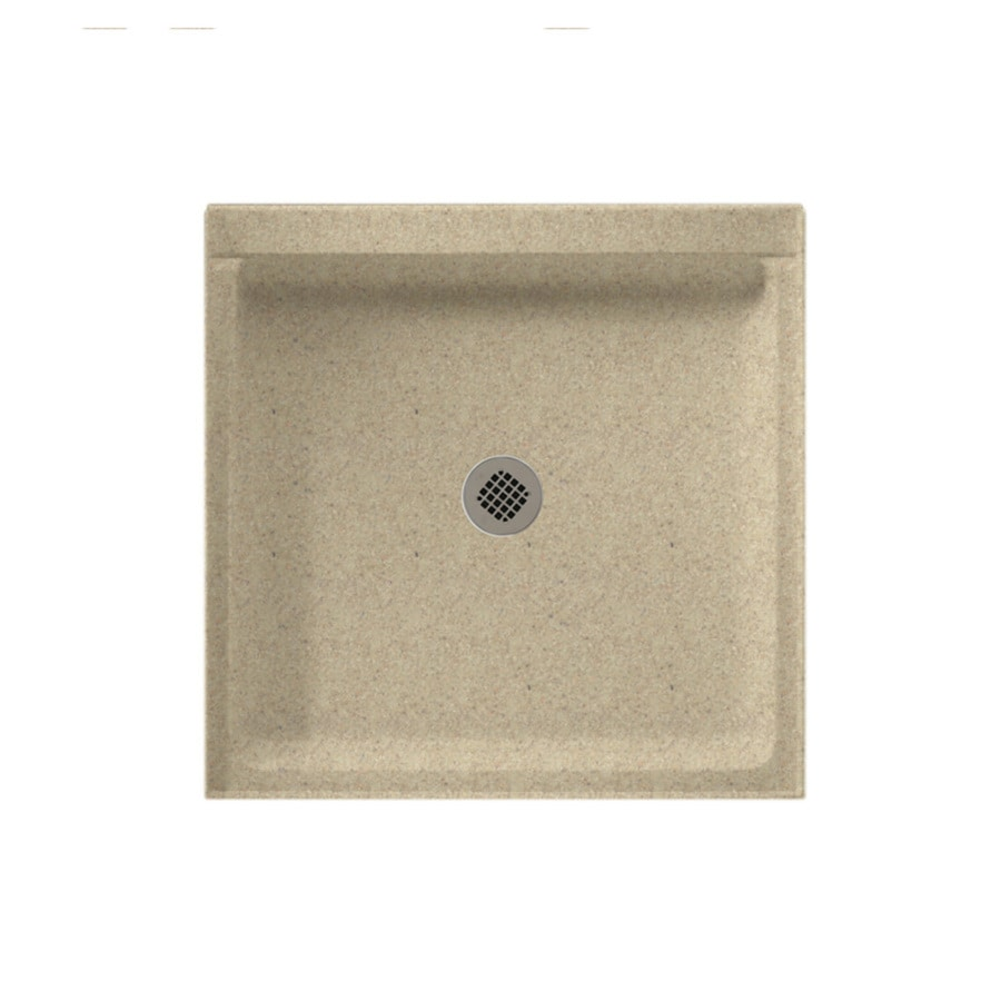 Swanstone Prairie Solid Surface Shower Base (Common: 42-in W x 42-in L; Actual: 42-in W x 42-in L)