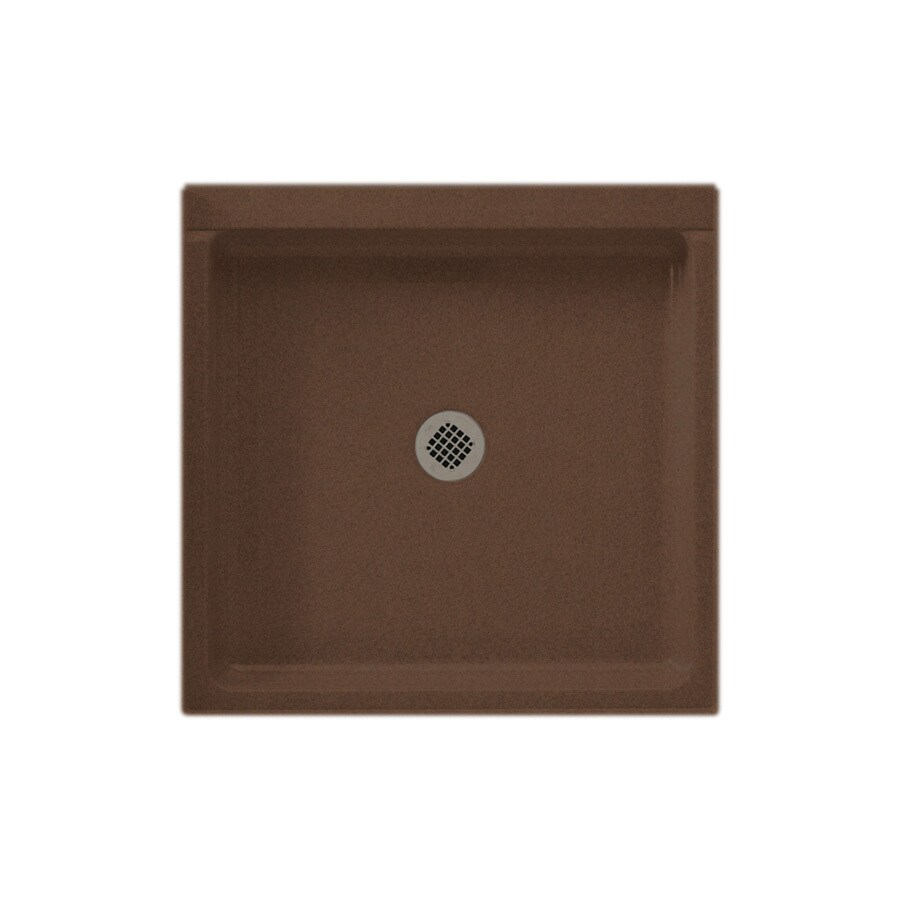 Swanstone Acorn Solid Surface Shower Base (Common: 42-in W x 42-in L; Actual: 42-in W x 42-in L)