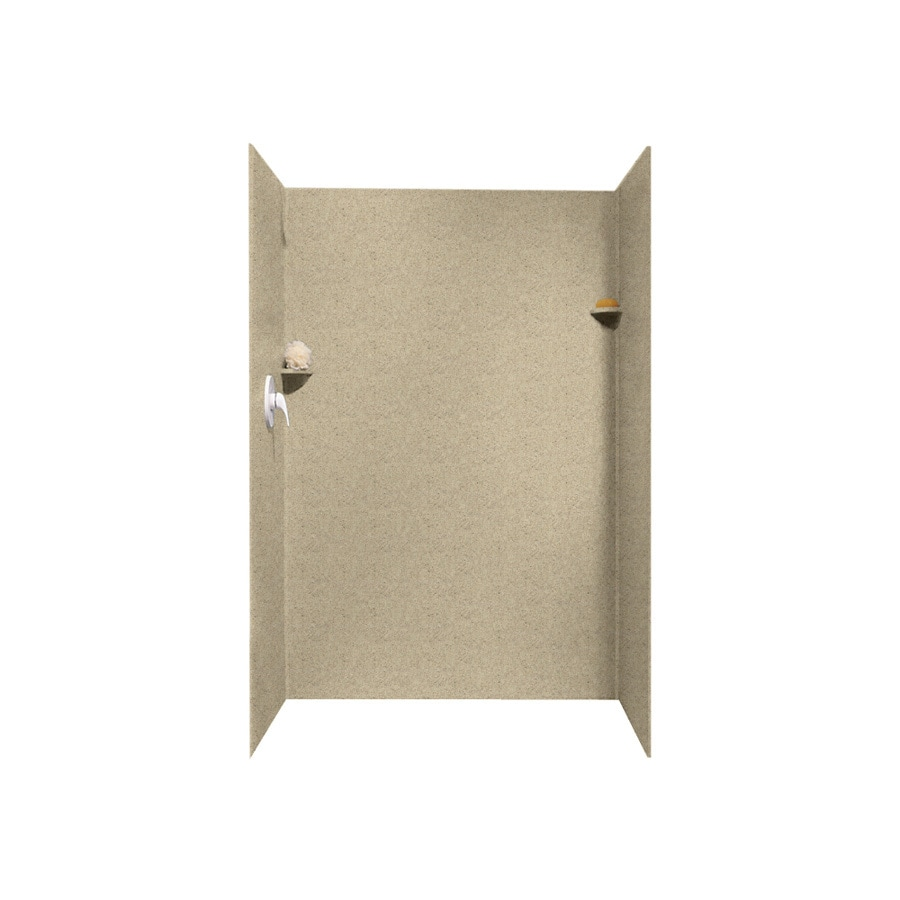 Swanstone Prairie Shower Wall Surround Side and Back Wall Kit (Common: 32-in x 48-in; Actual: 72-in x 32-in x 48-in)