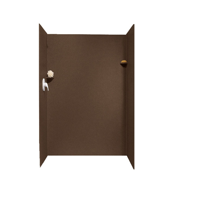 Swanstone Acorn Shower Wall Surround Side and Back Panels (Common: 32-in x 48-in; Actual: 72-in x 32-in x 48-in)