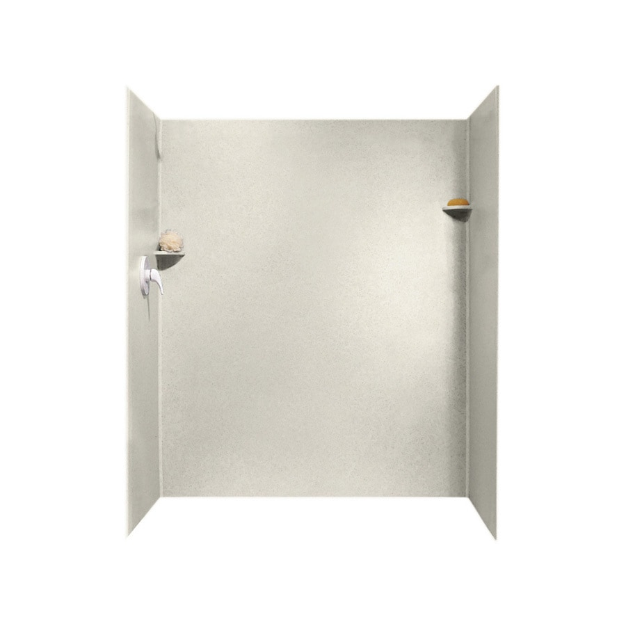 Swanstone Glacier Shower Wall Surround Side and Back Wall Kit (Common: 34-in x 60-in; Actual: 72-in x 34-in x 60-in)