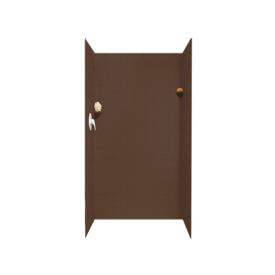 Swanstone Acorn Shower Wall Surround Side and Back Panels (Common: 36-in; Actual: 72-in x 36-in)