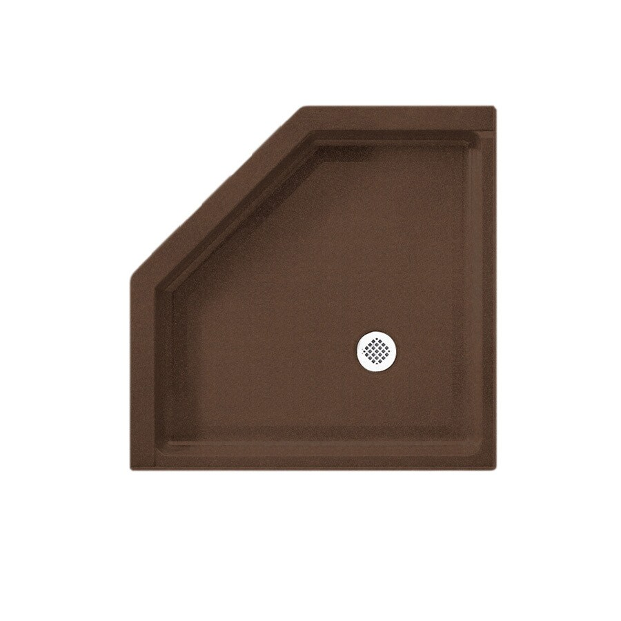 Swanstone Acorn Solid Surface Shower Base (Common: 38-in W x 38-in L; Actual: 38-in W x 38-in L)