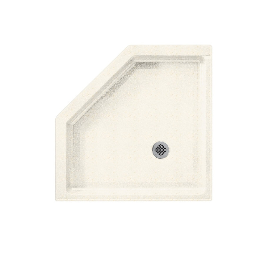 Swanstone Baby's Breath Solid Surface Shower Base (Common: 38-in W x 38-in L; Actual: 38-in W x 38-in L)