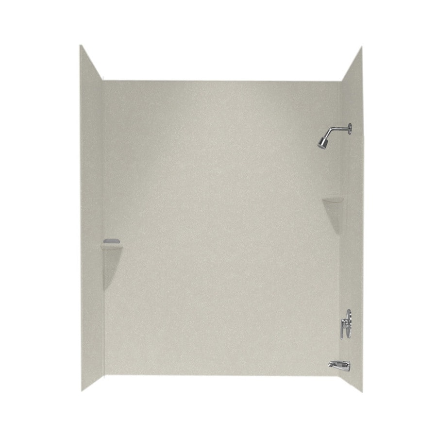 Swanstone Glacier Solid Surface Bathtub Wall Surround (Common: 30-in x 60-in; Actual: 60-in x 30-in x 60-in)