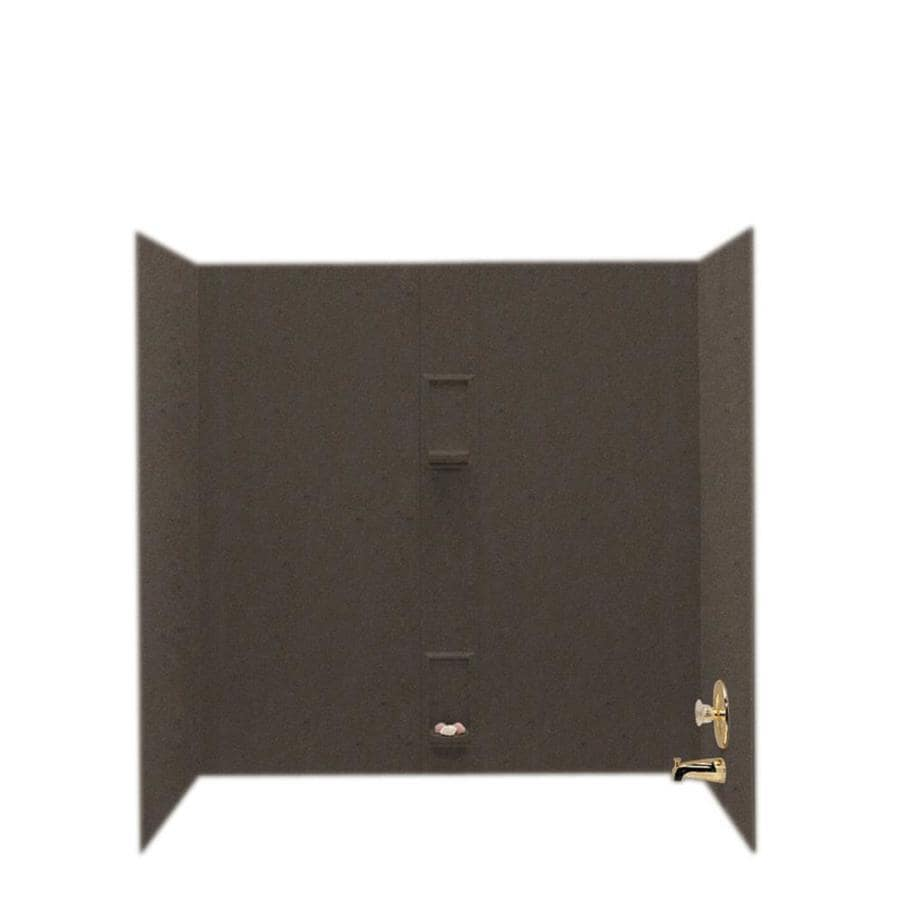 Swanstone Canyon Solid Surface Bathtub Wall Surround (Common: 30-in x 60-in; Actual: 60-in x 30-in x 60-in)