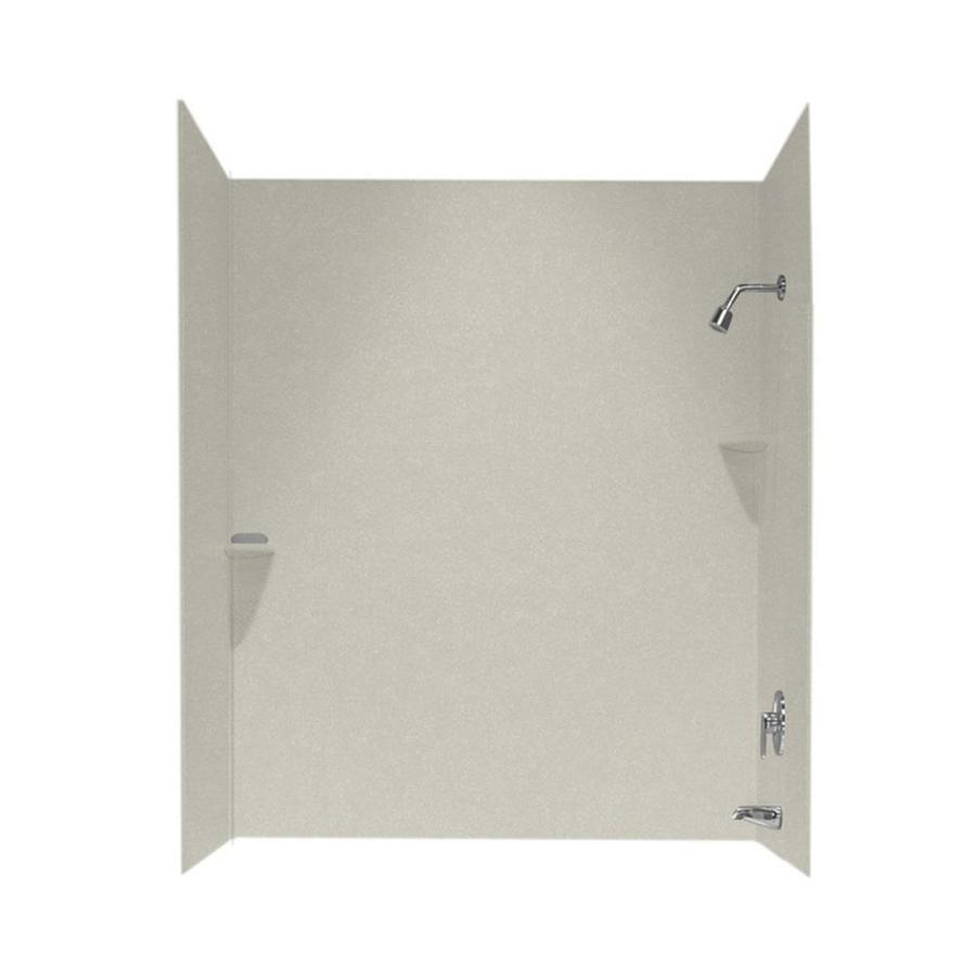Swanstone Glacier Solid Surface Bathtub Wall Surround (Common: 30-in x 60-in; Actual: 72-in x 30-in x 60-in)