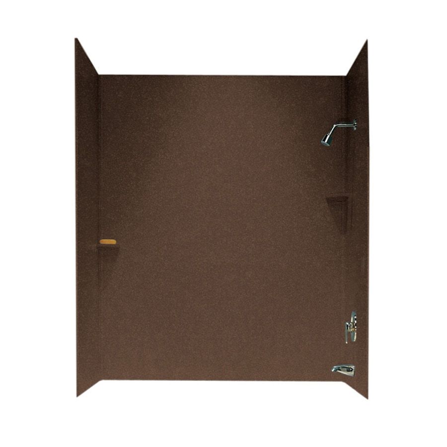 Swanstone Acorn Solid Surface Bathtub Wall Surround (Common: 30-in x 60-in; Actual: 72-in x 30-in x 60-in)