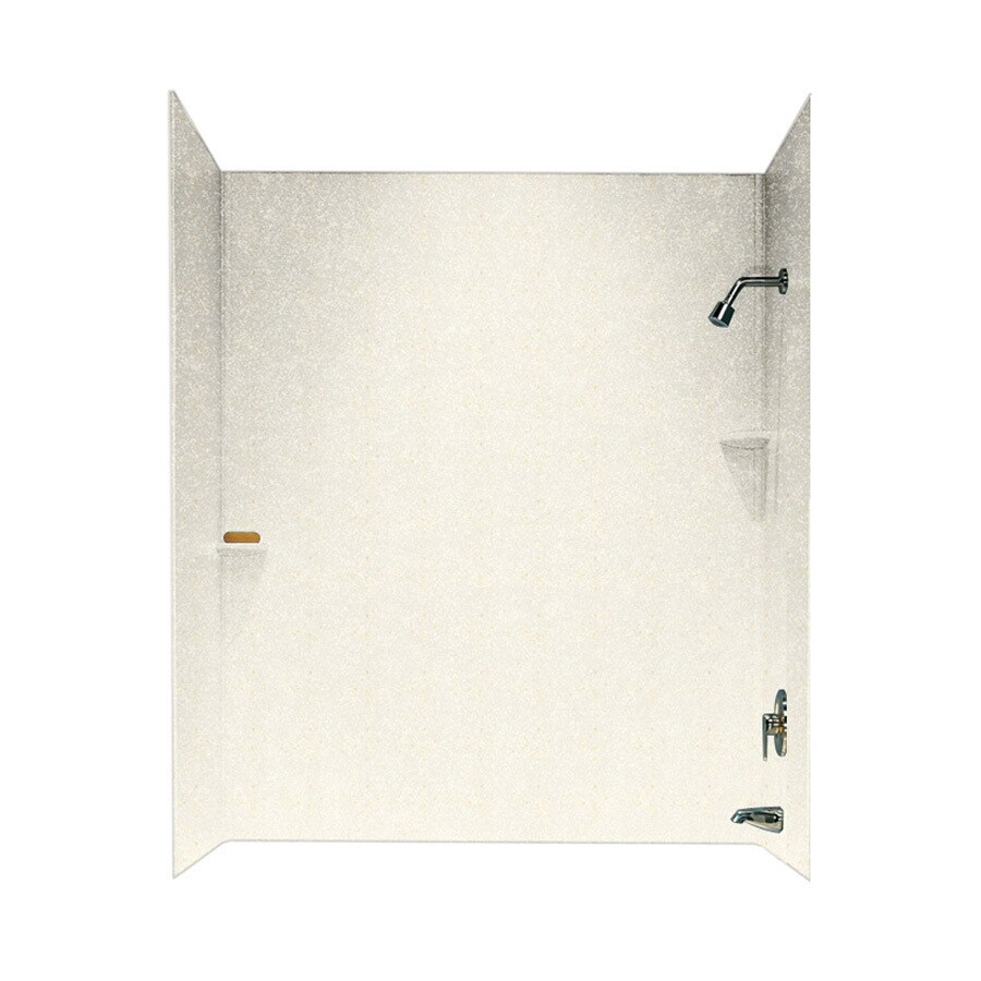 Swanstone Baby's Breath Solid Surface Bathtub Wall Surround (Common: 30-in x 60-in; Actual: 72-in x 30-in x 60-in)