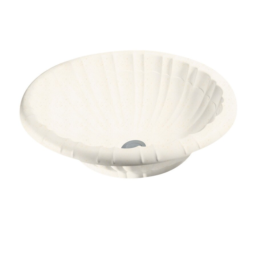 Swanstone Baby's Breath Solid Surface Oval Bathroom Sink with Overflow