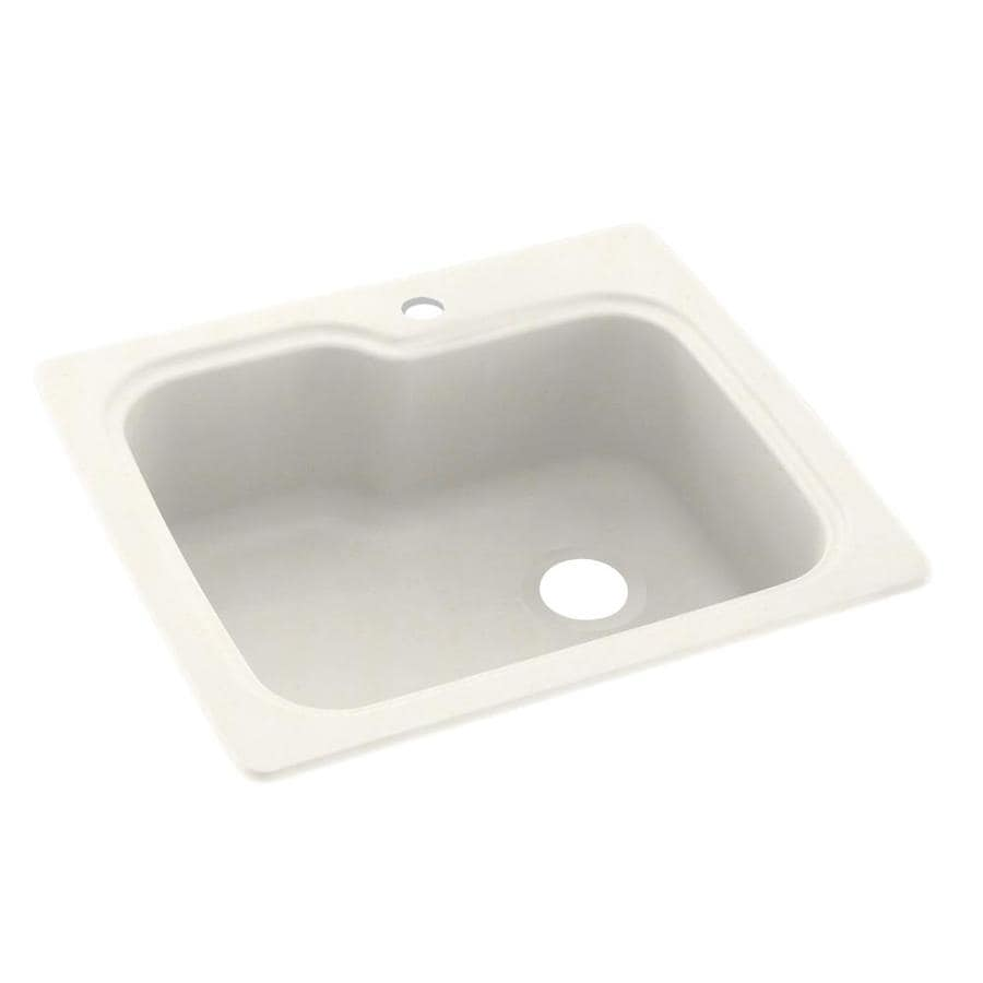 Swanstone 25-in x 22-in Baby's Breath Single-Basin Composite Drop-in 1-Hole Residential Kitchen Sink