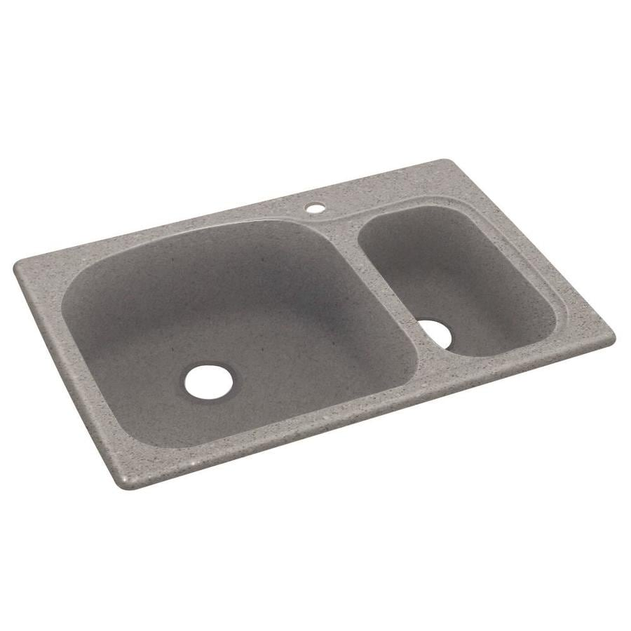 Swanstone 33-in x 22-in Canyon Single-Basin-Basin Composite Drop-in 1-Hole Residential Kitchen Sink