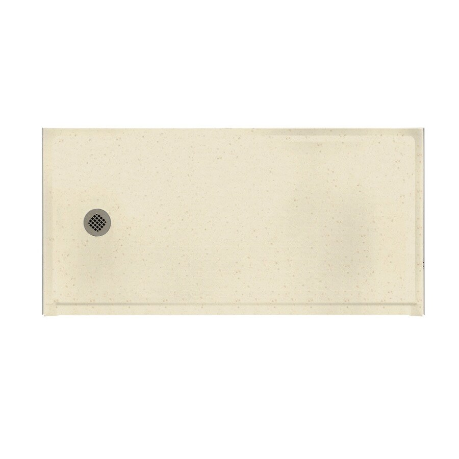 Swanstone Caraway Seed Solid Surface Shower Base (Common: 30-in W x 60-in L; Actual: 30-in W x 60-in L)