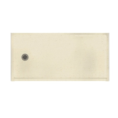 Caraway Seed Solid Surface Shower Base Common 30 In W X 60 L Actual With Left Drain