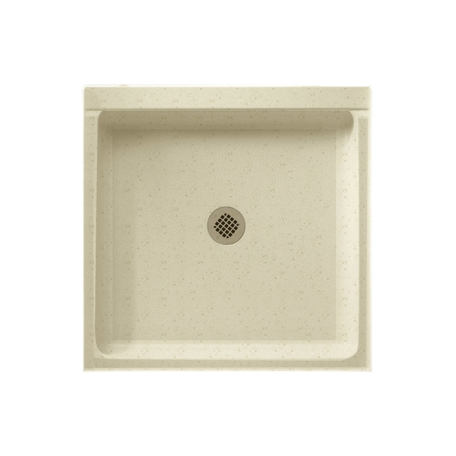 Swanstone Caraway Seed Solid Surface Shower Base (Common: 32-in W x 32-in L; Actual: 32-in W x 32-in L)