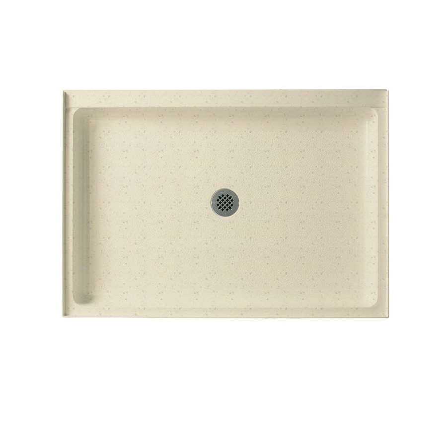 Swanstone Caraway Seed Solid Surface Shower Base (Common: 34-in W x 48-in L; Actual: 34-in W x 48-in L) with Center Drain
