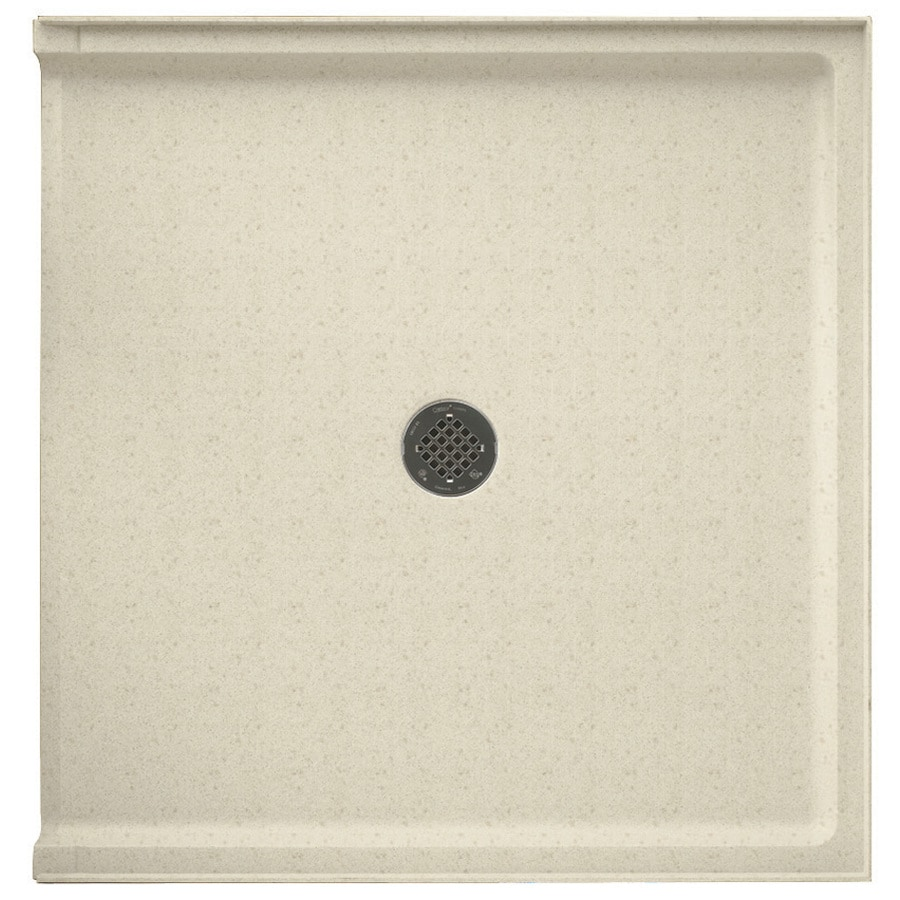 Swanstone Caraway Seed Solid Surface Shower Base (Common: 37-in W x 38-in L; Actual: 37-in W x 38-in L)