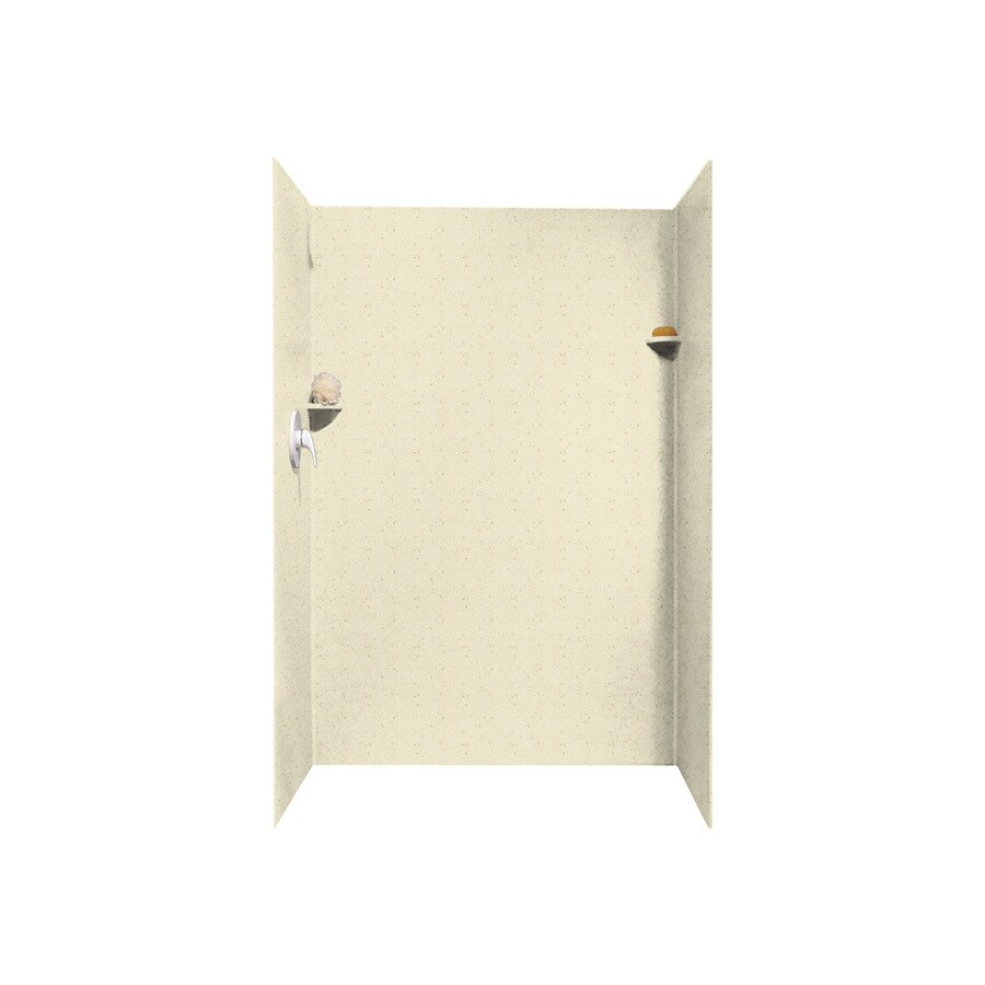 Swanstone Caraway Seed Shower Wall Surround Side and Back Panels (Common: 32-in x 48-in; Actual: 72-in x 32-in x 48-in)