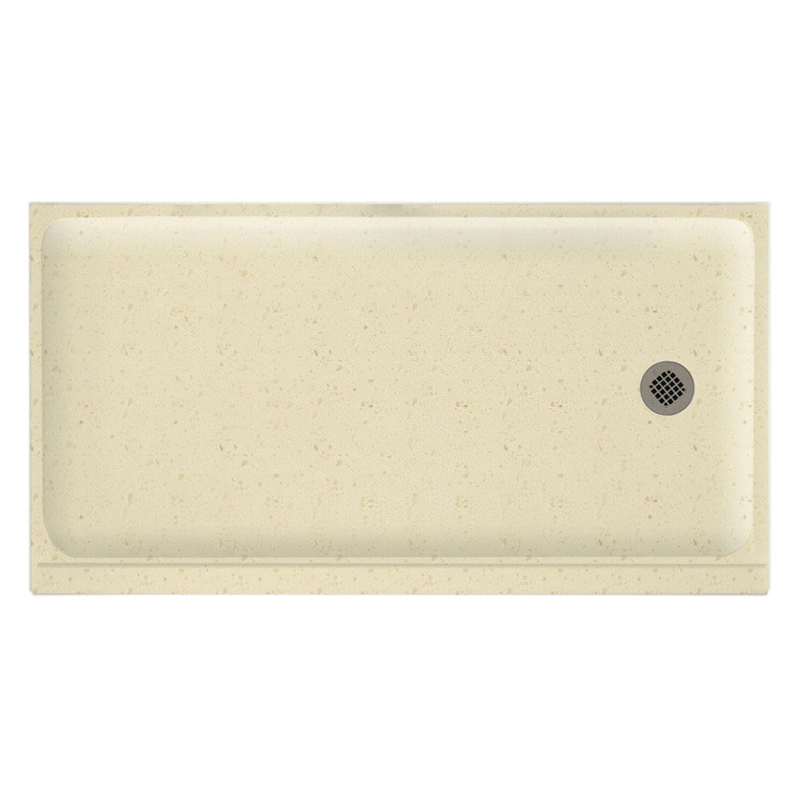 Swanstone Caraway Seed Solid Surface Shower Base (Common: 32-in W x 60-in L; Actual: 32-in W x 60-in L)