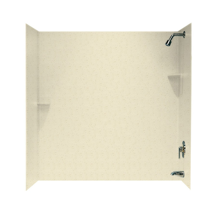 Swanstone Caraway Seed Solid Surface Bathtub Wall Surround (Common: 30-in x 60-in; Actual: 60-in x 30-in x 60-in)