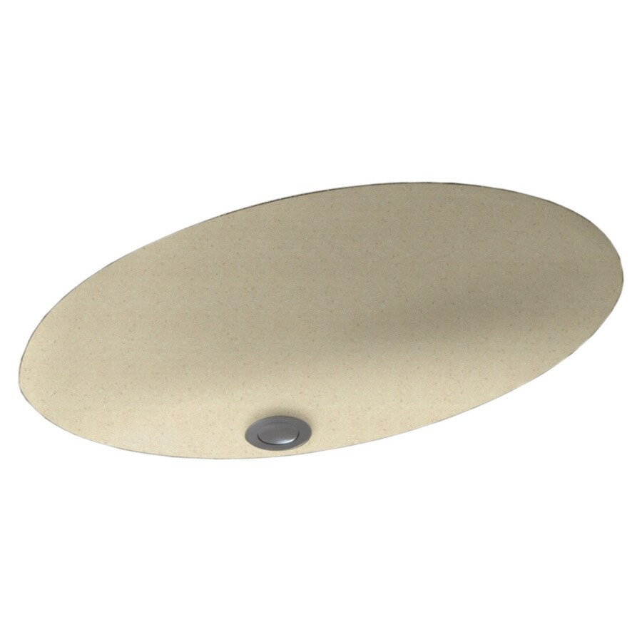 Shop Swanstone Caraway Seed Solid Surface Undermount Oval