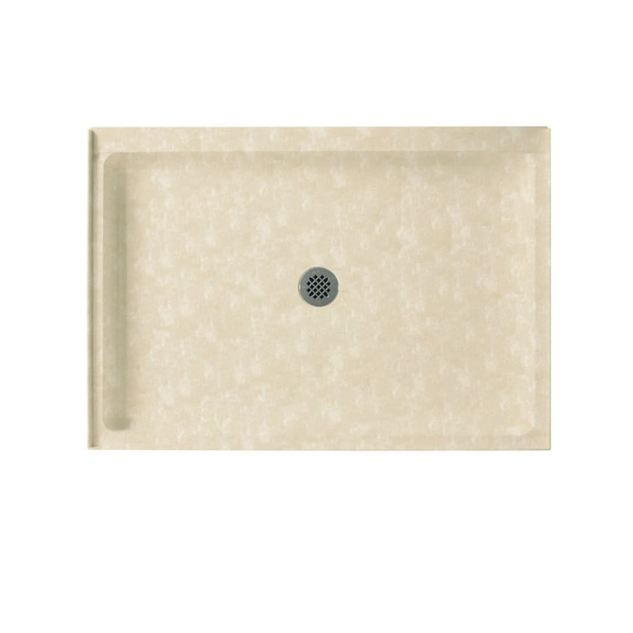 Swanstone Cloud Bone Solid Surface Shower Base (Common: 34-in W x 48-in L; Actual: 34-in W x 48-in L)