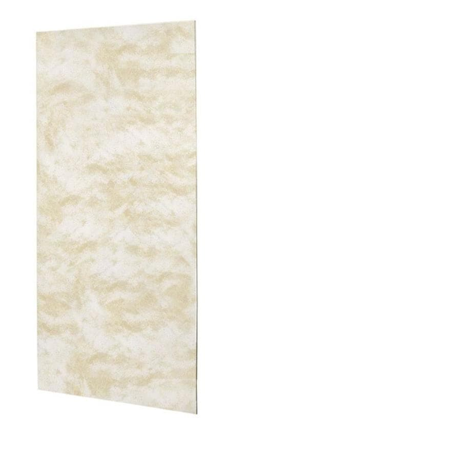 Swanstone Cloud White Shower Wall Surround Back Wall Panel (Common: 0.25-in x 36-in; Actual: 96-in x 0.25-in x 36-in)