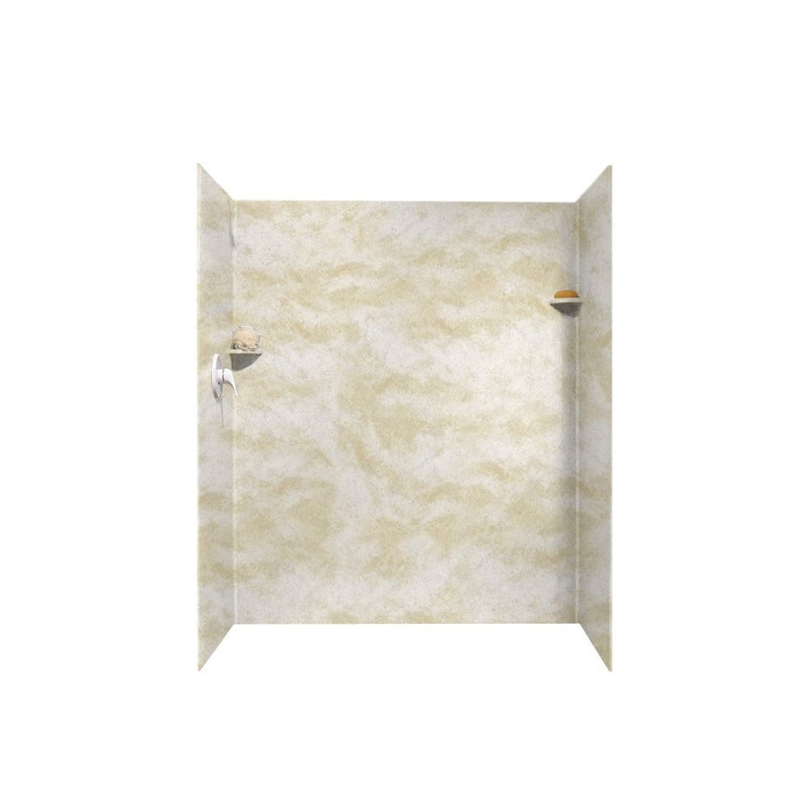 Swanstone Cloud White Shower Wall Surround Side And Back Wall Kit (Common: 32-in x 48-in; Actual: 72-in x 32-in x 48-in)